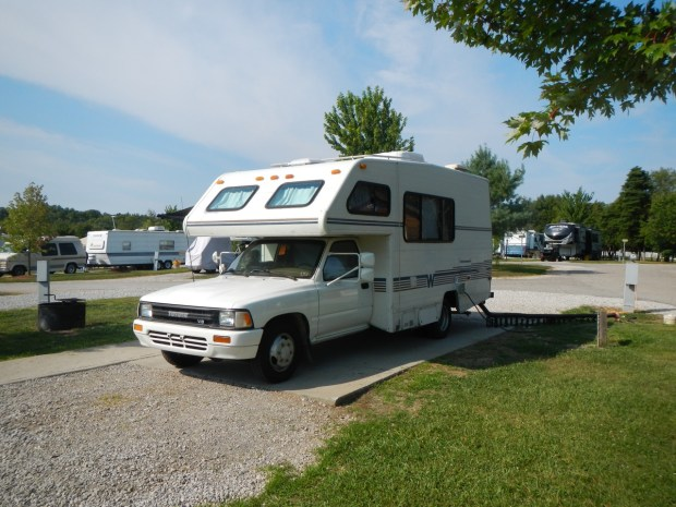 Parked at the Lake Monroe Camp Jellystone