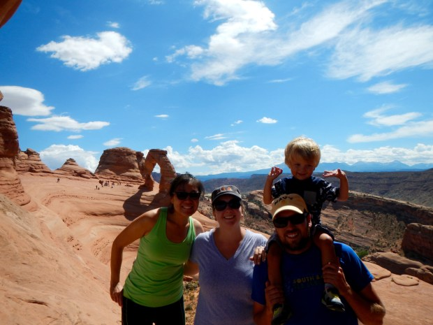 Look who we ran into on the trail down from Delicate Arch! Jasmine!