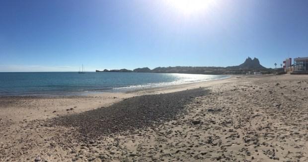 The anchorage at Caleta La Posada