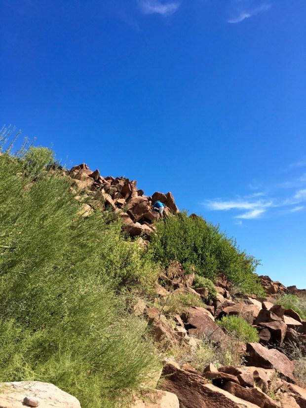 Climbing to the peak