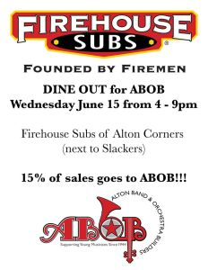 Firehouse dine out 6.15