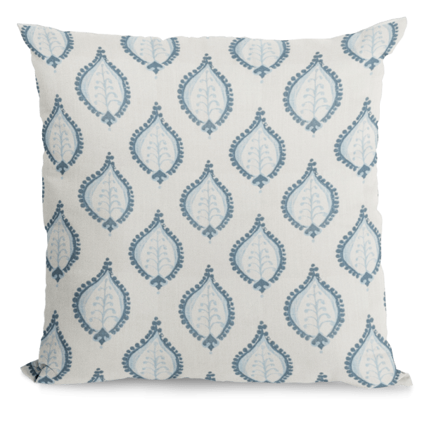 Blue and Cream Throw Pillow