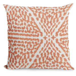 Dark Orange Print Throw Pillow