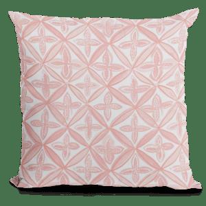 Pink Fret Design Throw Pillow