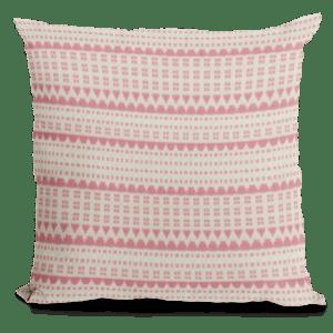 Cream and melon throw pillow