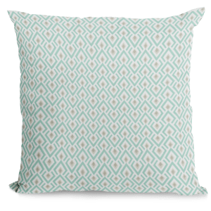 Turquoise and taupe pillow cover