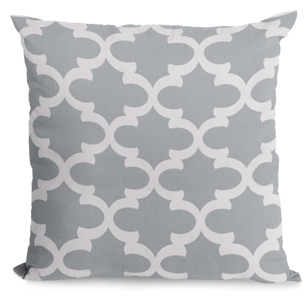 Cool grey and white pillow