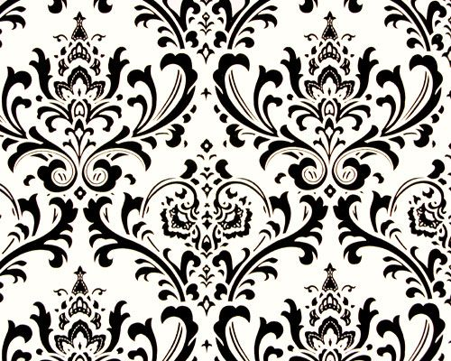 Classic Black and White Damask