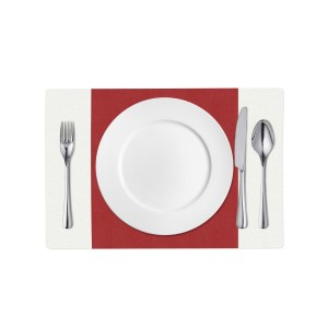 Red and White Linen Placemat
