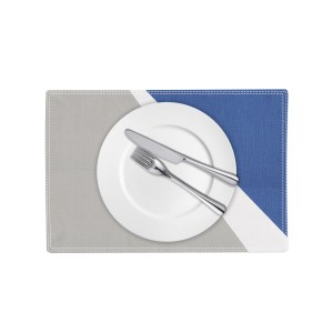 Spotlight Placemat - grey white and blue