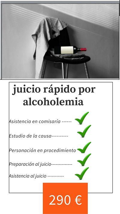precio juicio alcoholemia