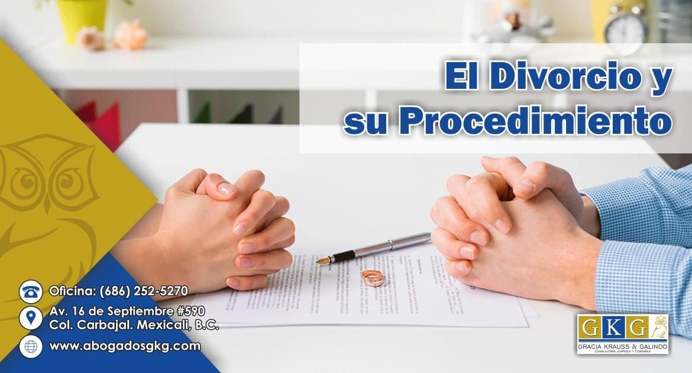 El Divorcio y su procedimiento Abogados GKG