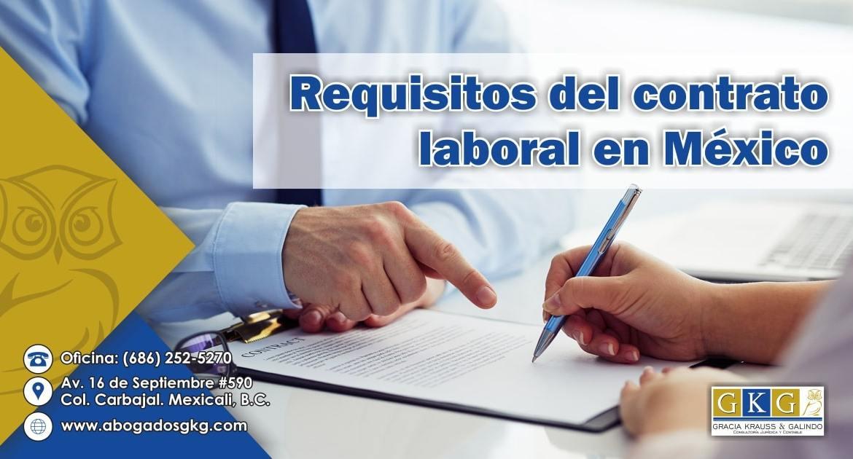 Requisitos del Contrato Laboral Abogados GKG