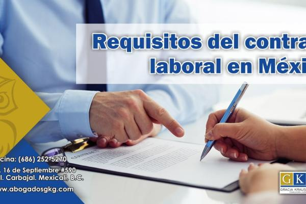 Requisitos del Contrato Laboral Abogados GKG