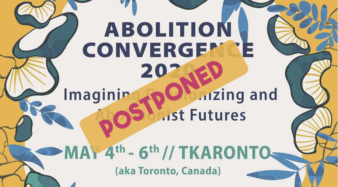 Postponed: Abolition 2020