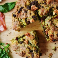 Prosciutto, Pesto, and Goats' Cheese Soda Bread - Bake Off Bake Along Week 3