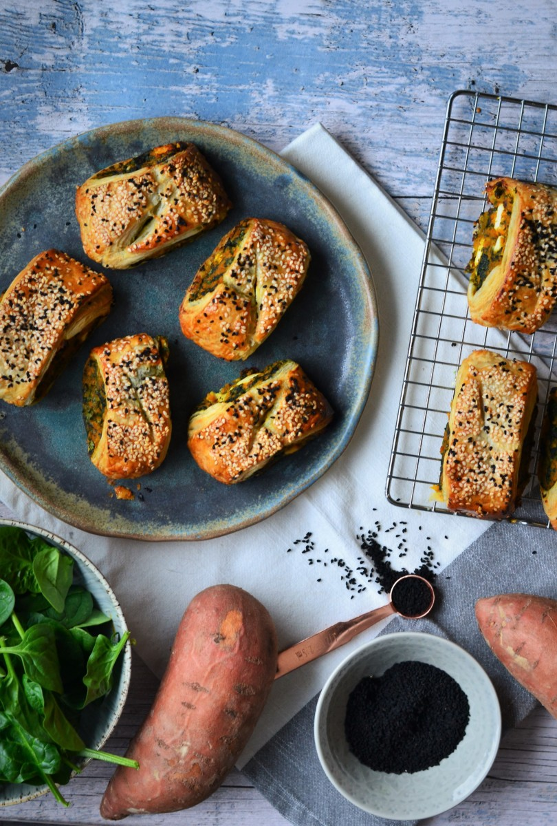 Spinach and Sweet Potato Rolls