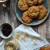 Oatmeal Rum Raisin Cookies