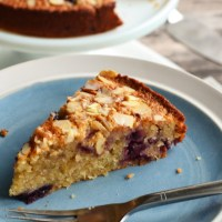 Cherry, Coconut, and Almond Cake