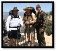 Picture of three hikers at Grand Canyon