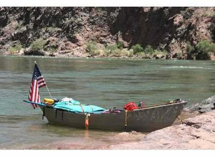 Picture of row boat on Colorado River