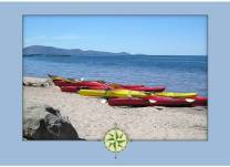 Picture of sea kayaks on Lake Titicaca