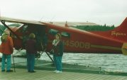 Picture of a sea plane at dock