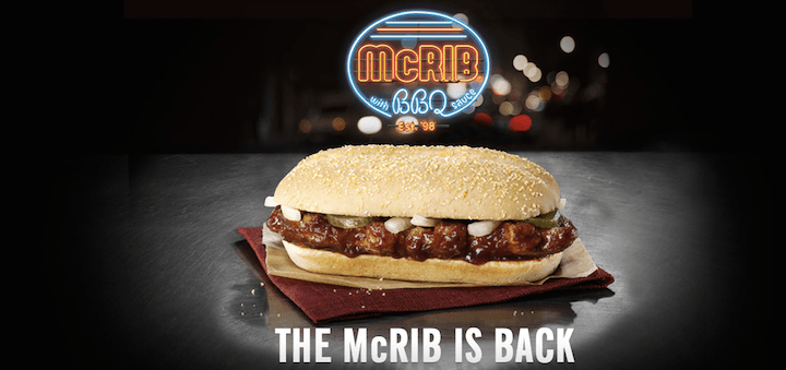 The McRib is Back