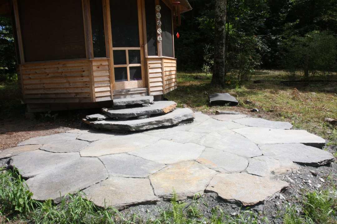 Landscape Design and Stonework in Western MA Goshen Stone landing