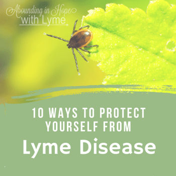 10 Ways to Protect Yourself from Lyme Disease - Tick hanging off a green leaf.