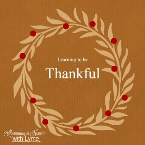 Learning To Be Thankful