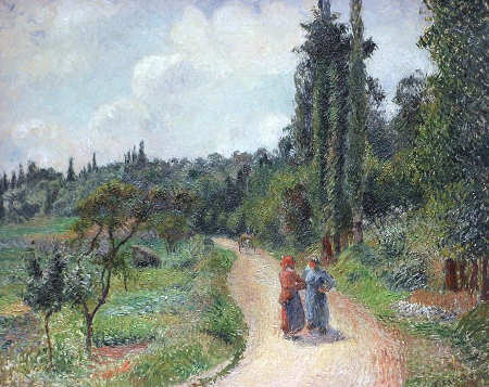Pissarro - the road to Osny