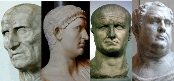 Year of the Four Emperors Ruling the Roman Empire