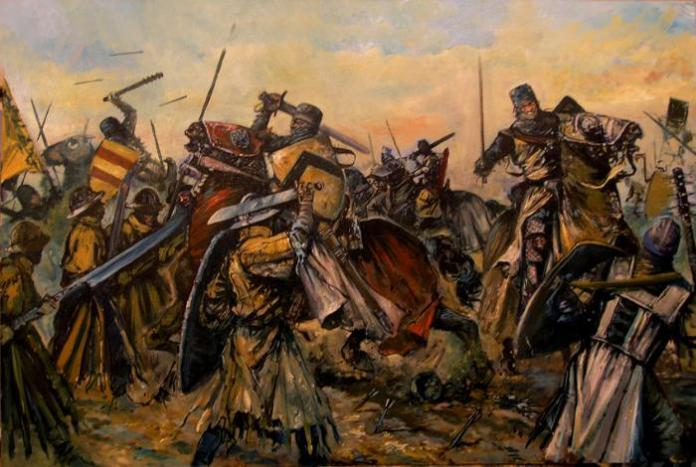 how did a medieval battle end