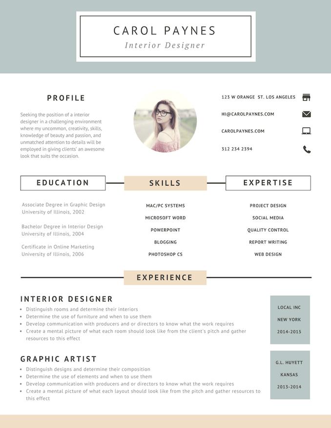 Free Online Resume Builder Design A Custom Resume In Canva