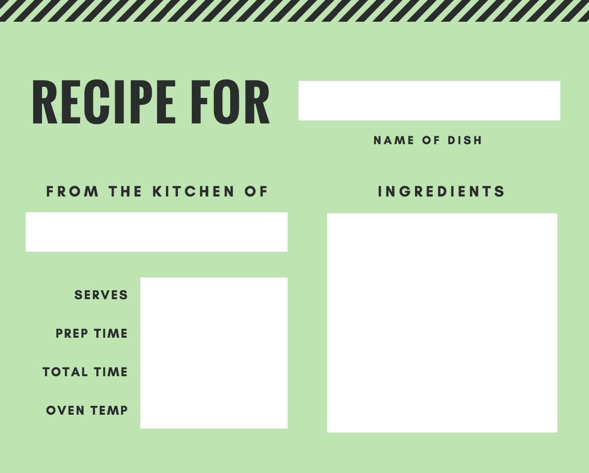 Free Online Recipe Card Maker Design A Custom Recipe Card