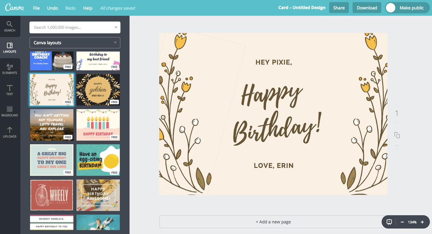Buat Desain Kartu Ucapan Ulang Tahun Spesial Dan Unik Canva
