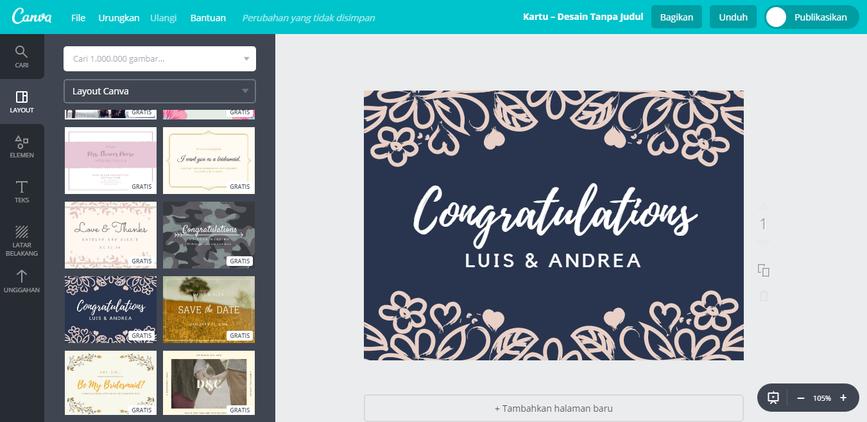 Buat Desain Kartu Ucapan Pernikahan Unik Dan Cantik Canva