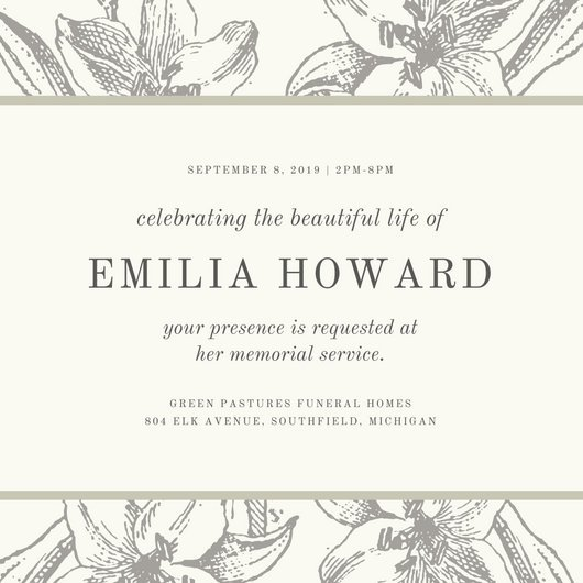 1 Year Death Anniversary Invitation Sample