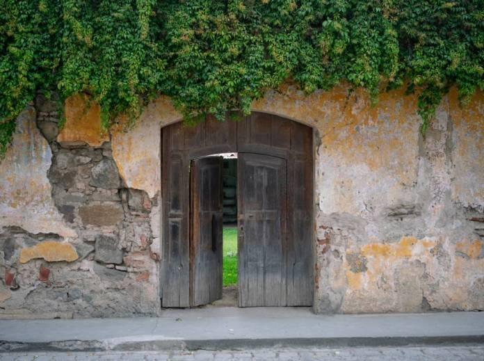 Open the garden door