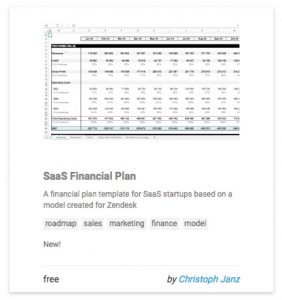 SaaS Financial Plan