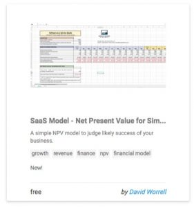 SaaS Model - Net Present Value for Simple Web Business