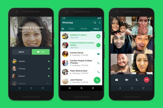 WhatsApp Joinable Group Calls screenshots