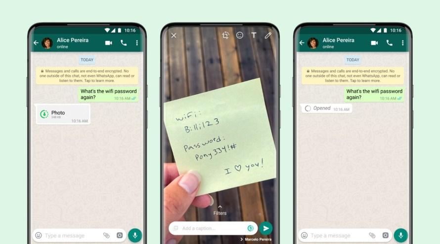 Screenshot of WhatsApp View Once photo