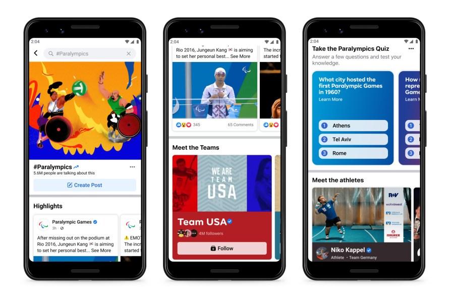 Screenshot of Paralympics Hub