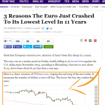 HuffingtonPost_3 Reasons The Euro Just Crashed To Its Lowest Level In 11 Years 2015-01-16