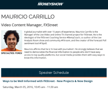 Mauricio Carrillo Money Show Orlando