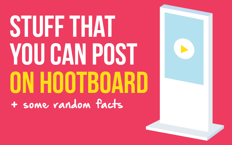 Infographic: Content that you can Post on HootBoard