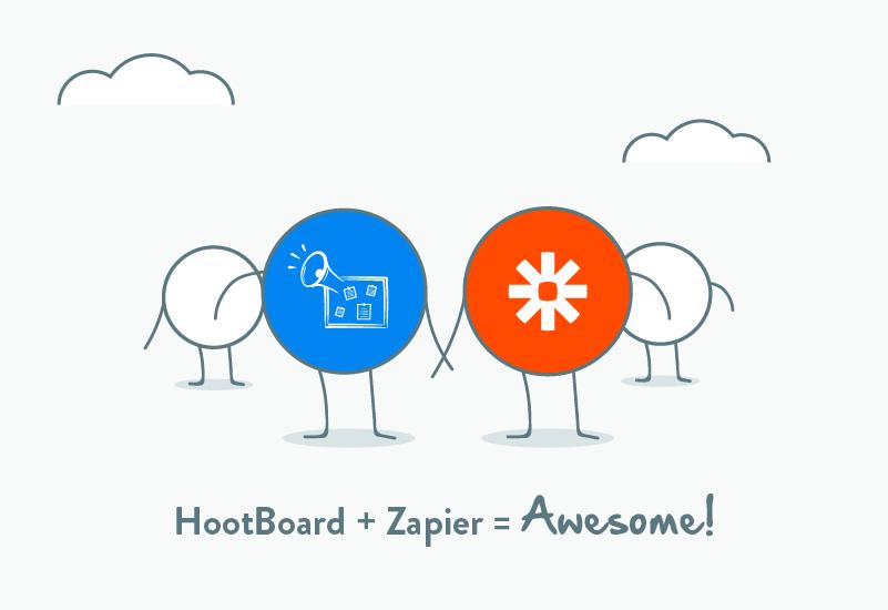 1000+ HootBoard information kiosk integrations, bring it on Zapier