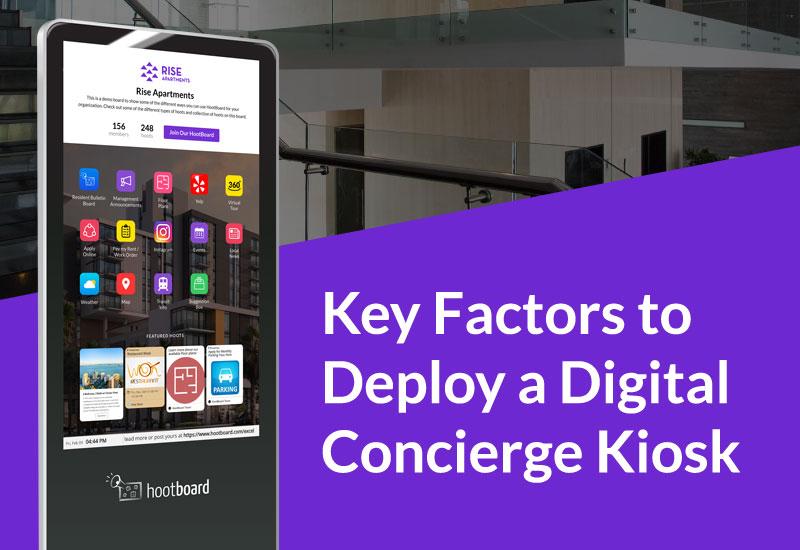 8 Key Factors for Deploy a Digital Concierge Kiosk
